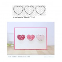 My Favorite Things Heart Trio Shaker Window Die-namics Universal Cutting Dies MFT-1445