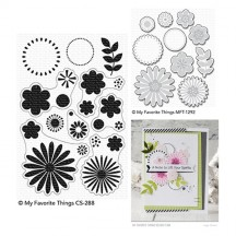 My Favorite Things Bold Blossoms Clear Stamps & Die Set