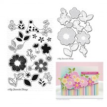 My Favorite Things Bold Blooms Clear Stamps & Die Set