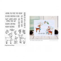 My Favorite Things Dashing Deer Clear Christmas Stamp Set CS-238