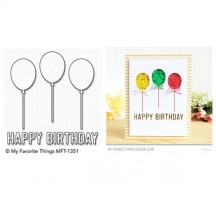 My Favorite Things Happy Birthday Balloon Trio Die-namics Universal Cutting Dies MFT-1351