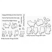 My Favorite Things Love You Furever Cats Clear Stamp & Cutting Die Set