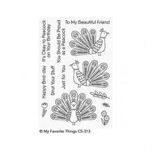 My Favorite Things Playful Peacock Clear Stamps CS-313