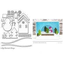 My Favorite Things Scenic Snow Globe Die-namics Universal Christmas Cutting Dies MFT-1206
