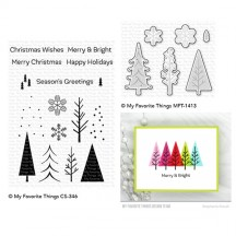 My Favorite Things Trio of Trees Christmas Clear Stamps & Die Set