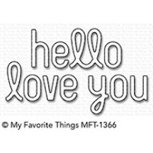 My Favorite Things Simply Hello & Love You Die-namics Universal Cutting Dies MFT-1366