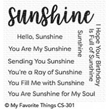 My Favorite Things Full Of Sunshine Clear Stamps CS-301