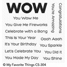 My Favorite Things You Wow Me Clear Stamps CS-304
