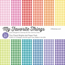 """My Favorite Things Tiny Check Brights 6""""x6"""" Paper Pack"""