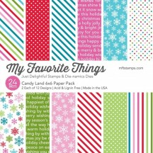 "My Favorite Things Candy Land Christmas 6""x6"" Paper Pack"