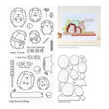 My Favorite Things Birdie Brown Happy Hedgehogs Clear Stamps & Cutting Die Set