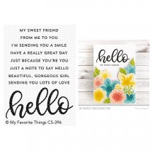 My Favorite Things Well, Hello Sentiments Clear Stamps CS-396