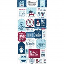 Echo Park My Favorite Winter Self Adhesive Chipboard Phrases Stickers MFW193022
