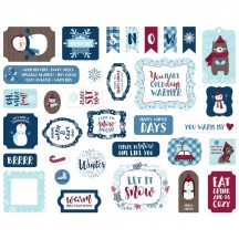 Echo Park My Favorite Winter Ephemera Die Cut Cardstock Pieces MFW193024