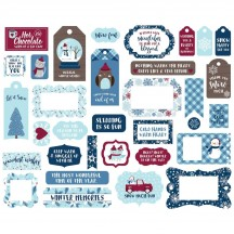Echo Park My Favorite Winter Frames & Tags Ephemera Die Cut Cardstock Pieces MFW193025