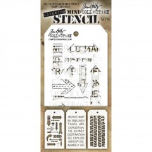 Tim Holtz Mini Layering Stencil Mask Set - Set 15 THMST015