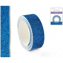 Multicraft Imports Turquoise Glitter Tape 15mm / 1.2m ST560G