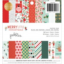"Pebbles Merry Little Christmas 6""x6"" Paper Pad 734153"