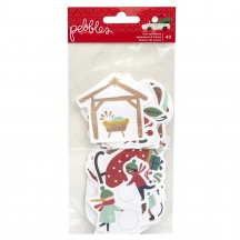 Pebbles Merry Little Christmas Icon Ephemera Die-Cut Cardstock Shapes 734146