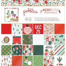 "Pebbles Merry Little Christmas 12""x12"" Paper Pad 734152"