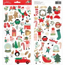"Pebbles Merry Little Christmas 6""x12"" Accent Stickers 2 sheets 734144"