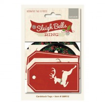 My Mind's Eye Sleigh Bells Ring Christmas Decorative Tags SBR112