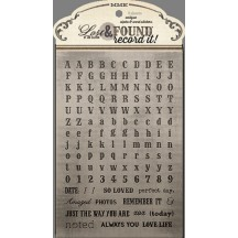 My Mind's Eye Lost & Found Record It! Antique Alpha & Word Stickers LF4043