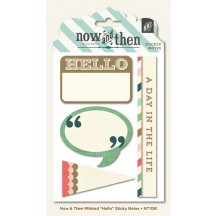 "My Mind's Eye Now & Then Mildred ""Hello"" Sticky Notes Embellishments NT1061"