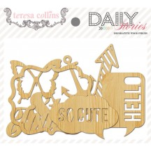 Teresa Collins Daily Stories Decorative Wood Pieces - DS1020