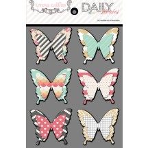 Teresa Collins Daily Stories Butterfly Stickers DS1027