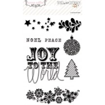 Teresa Collins Tinsel & Company Clear Stamp Set - TC1025