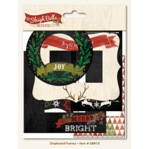 My Mind's Eye Sleigh Bells Ring Christmas Decorative Chipboard Frames SBR113