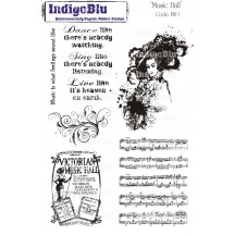 IndigoBlu A5 Cling Mounted Rubber Stamp Sheet - Music Hall