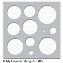 My Favorite Things MIX-ables Basic Shapes Circles Stencil ST-105