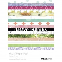 """Kaisercraft My Year, My Story 6""""x8"""" Specialty Paper Pad PP986 44 Sheets"""