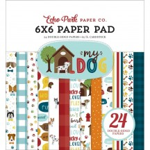 "Echo Park My Dog 6""x6"" Double-Sided Paper Pad MD226023"