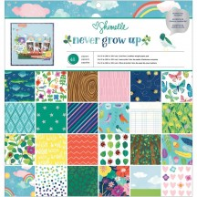 "American Crafts Shimelle Never Grow Up 12""x12"" Paper Pad 48 Sheets 356176"