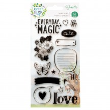 American Crafts Shimelle Never Grow Up Clear Stamp Set 356184