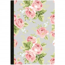 Webster's Pages Grey Floral Dotted Grid Composition Planner Notebook NP200B