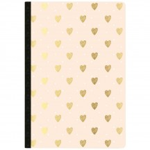 Webster's Pages Gold Heart Day Tracker Composition Planner Notebook NP201A