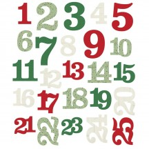 Simple Stories Merry & Bright Christmas Numbers Die-Cut Cardstock Pieces 10325