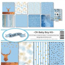 "Reminisce Oh Baby Boy 12""x12"" Paper Crafting Kit OBB-200"