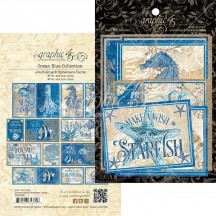 Graphic 45 Ocean Blue Journaling & Ephemera Cards 4502020
