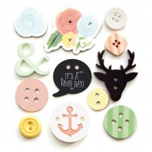 Fancy Pants Office Suite Button Embellishments 2473