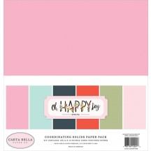 "Carta Bella Oh Happy Day Spring 12""x12"" Solids Paper Kit OHD112015"