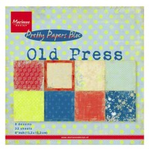 "Marianne Design Pretty Papers 6""x6"" Paper Bloc - Old Press PK9120"