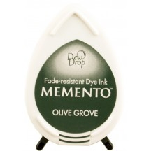 Tsukineko Memento Dye Ink Dew Drop Pad - Olive Grove - Green