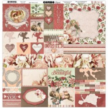 "Bo Bunny Only You Valentine 12""x12"" Element & Border Combo Stickers 7310029"