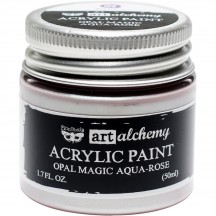 Prima Finnabair Art Alchemy Opal Magic Aqua-Rose Acrylic Paint 50ml 965136