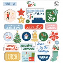 Pinkfresh Studio Oh What Fun Christmas Chipboard Sticker Pieces PFRC700820